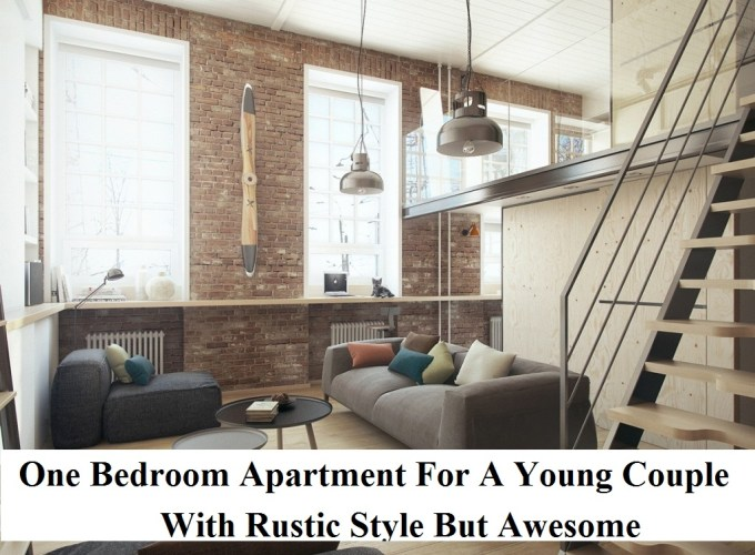 One bedroom apartment for a young couple with rustic style but awesome
