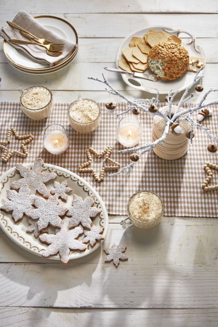 Painted branch winter centerpiece Easy and Gorgeous Winter Centerpieces Every Table Should Have