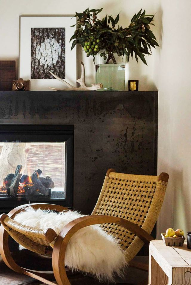 Reading nook by the fireplace Homey Decoration Ideas To Hibernate Your Mind In Style Along The Winter