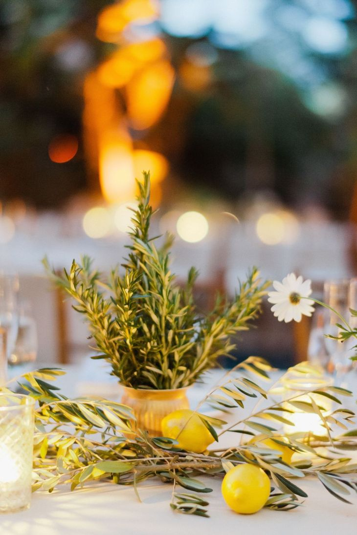 Rosemary and citrus centerpiece Perfectly Impressive Winter Rustic Centerpieces Where Your Guest Can Not Deny