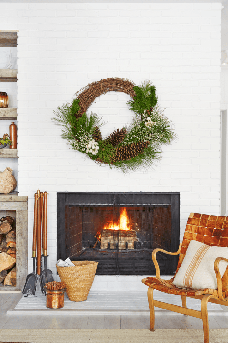 Wintery wreath Beating The Winter Blues With These Cozy Decorating Ideas That Is Easy To Be Applied