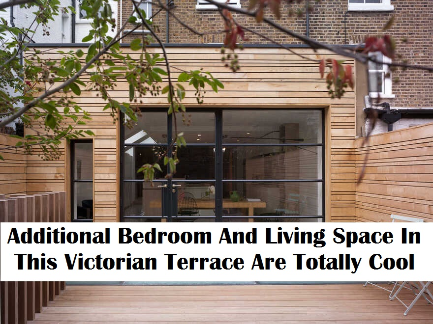 Additional bedroom and living space in this victorian terrace are totally cool