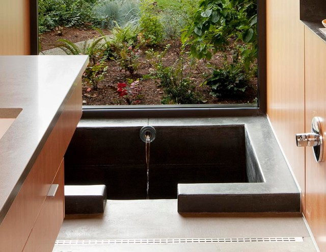 Comfy master bathroom with a sunken bathtub to get relax anytime 3