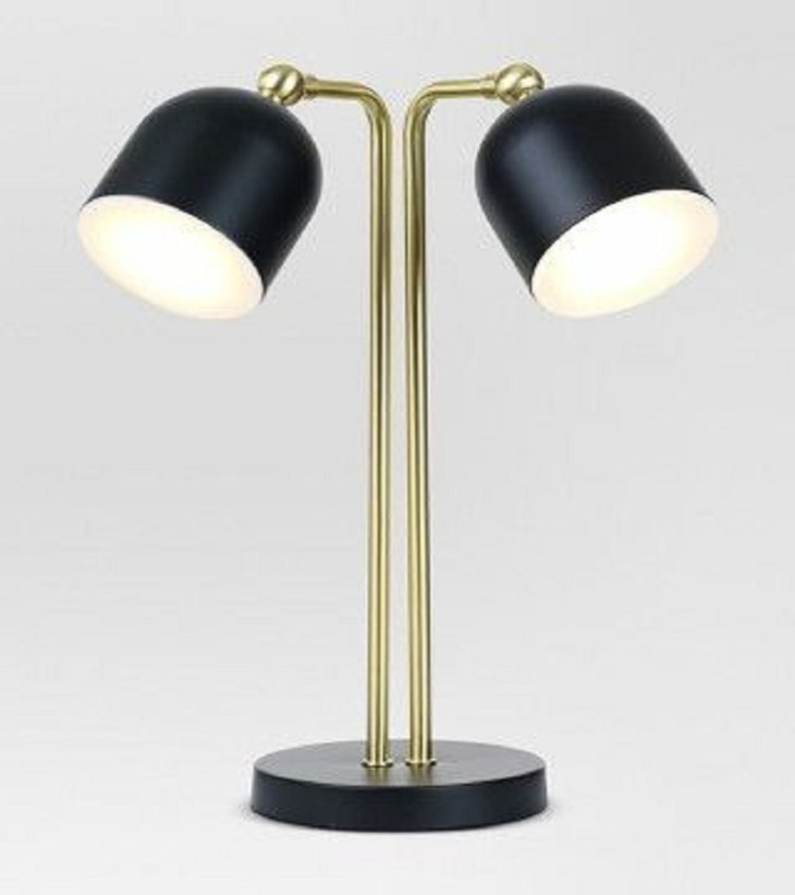 Dual Head LED Table Lamp Black Night Study Sessions Lamp Ideas For Your Most Stylish Dorm Room