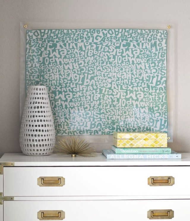Lucite framed scarf Affordable DIY Dorm Room Décor Ideas To Have Your New Square Feels Homey