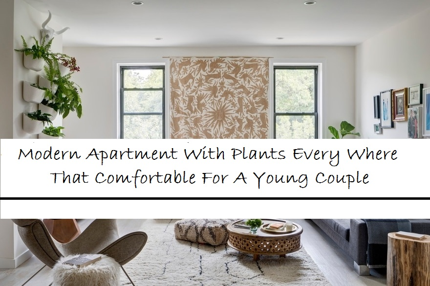 Modern Apartment With Plants Every Where That Comfortable For A Young Couple