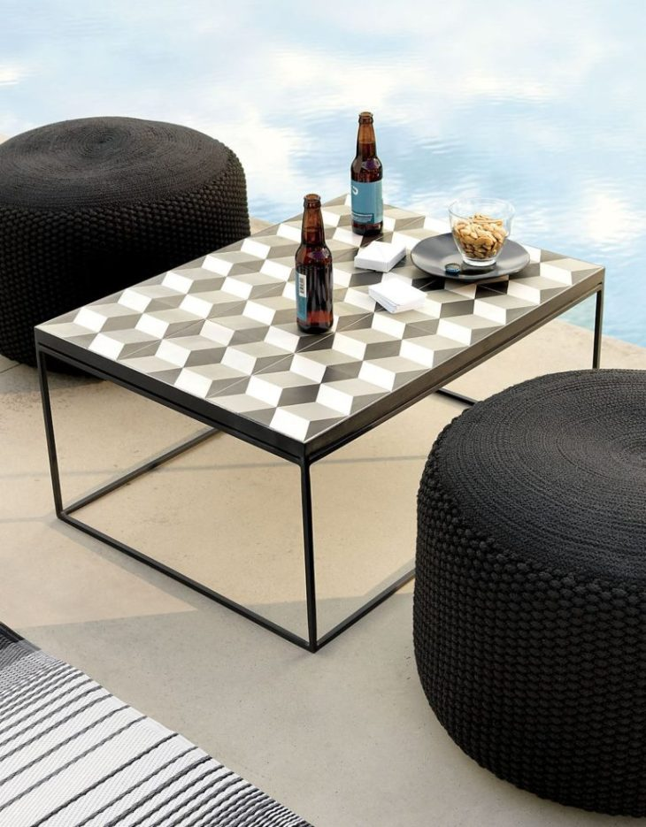 Pouf to enhance an outdoor lounge Best Parts Of Home To Have Handy Uses For The Pouf As An Inviting Space