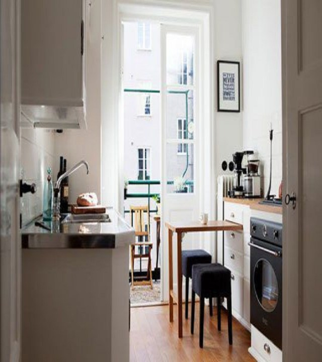 Pull-out table Precocious Solutions For Home With No Dining Room To Throw Away Your Worry