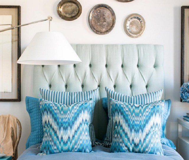 Silver platesRoaring Above The Bed Decoration Ideas To Have A Fresher Look