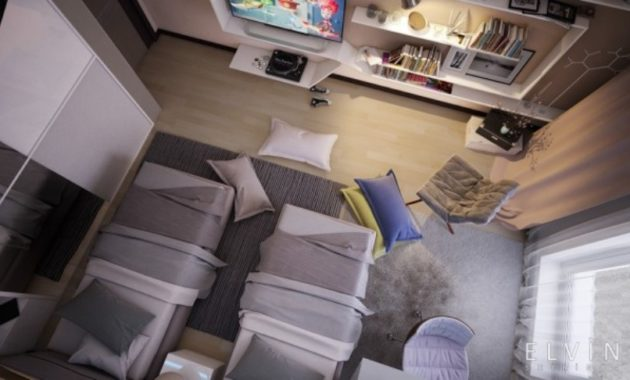 An ideal space for teens who are forced to share a room 3