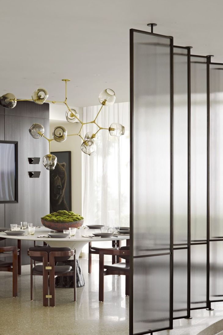 Incorporate a sliding glass screen Genius Grand Room Dividers Ideas To Get The Most Out Of Any Space