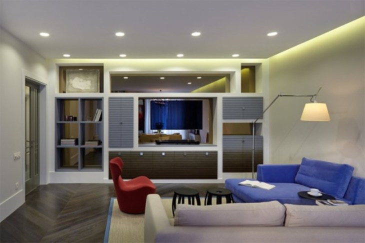 Inspiring apartment design with colorful interiors that offer rich and elegant details
