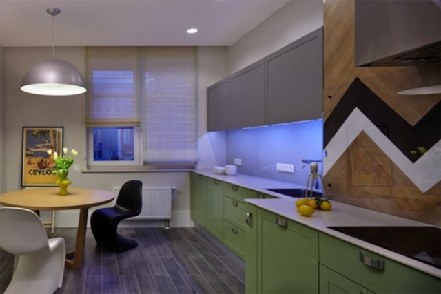 Inspiring apartment design with colorful interiors that offer rich and elegant details 4