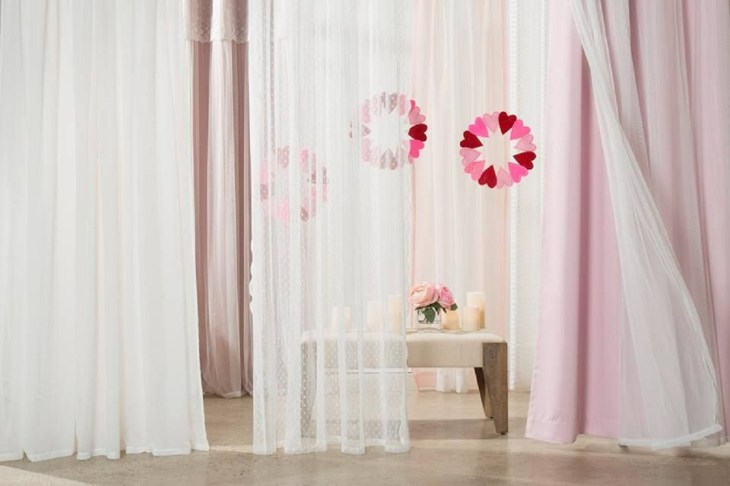 Pastel drapery Full Of Love Valentine Days Decoration For Your Most Memorable Moments