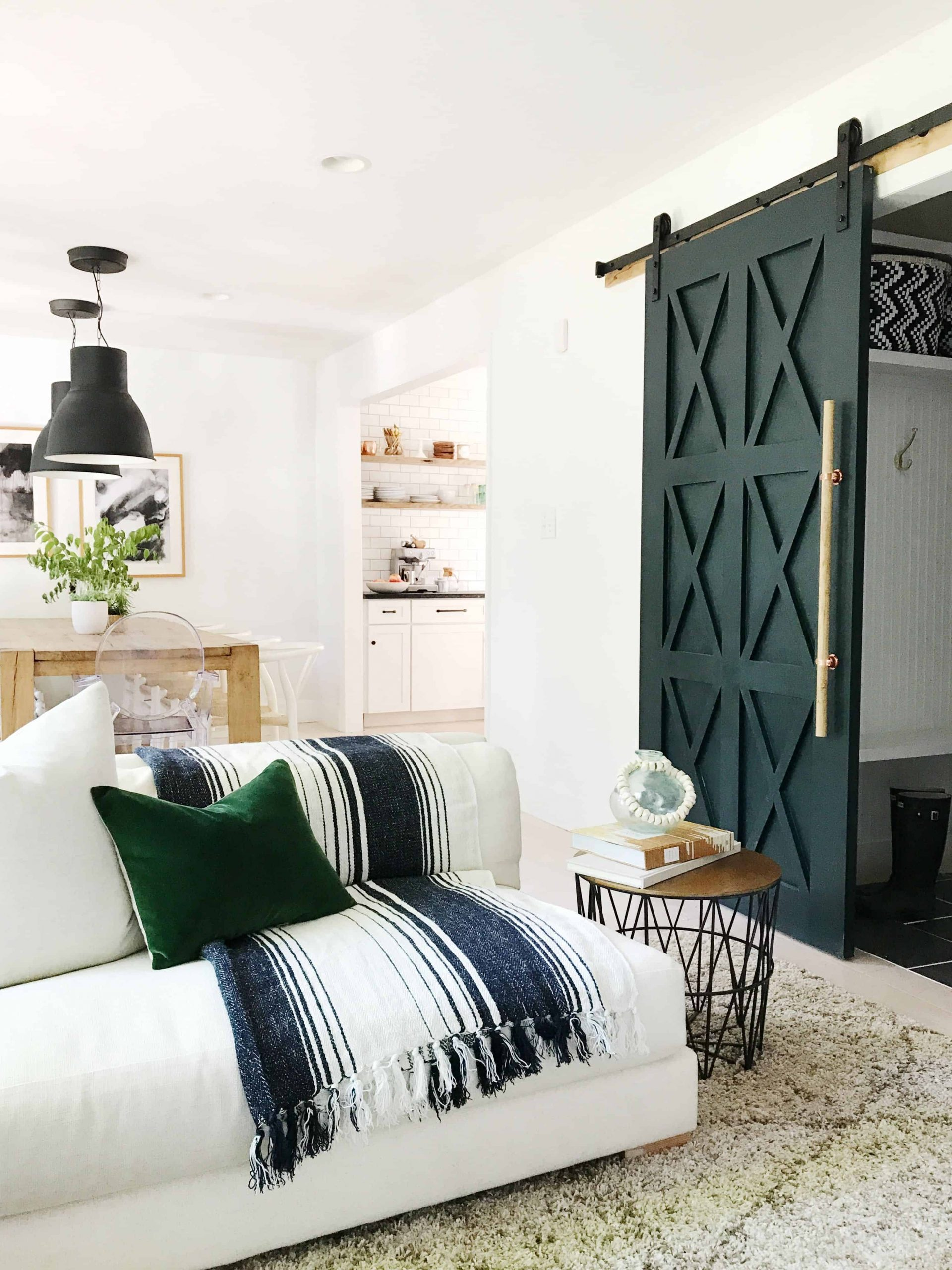 Barn doors The Highlight Of Fresh Feminine To Present The Most Appealing Living Room