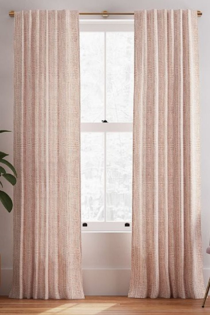 Blush cotton curtains Undoubtedly Inspiring Bedroom Curtain Ideas To Instantly Elevate Your Space