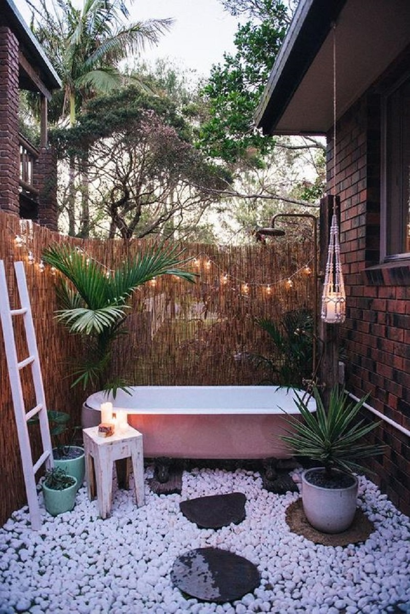 Boho outdoor tub Never Been Better Outdoor Tubs For The Most Relaxing Soaking Session
