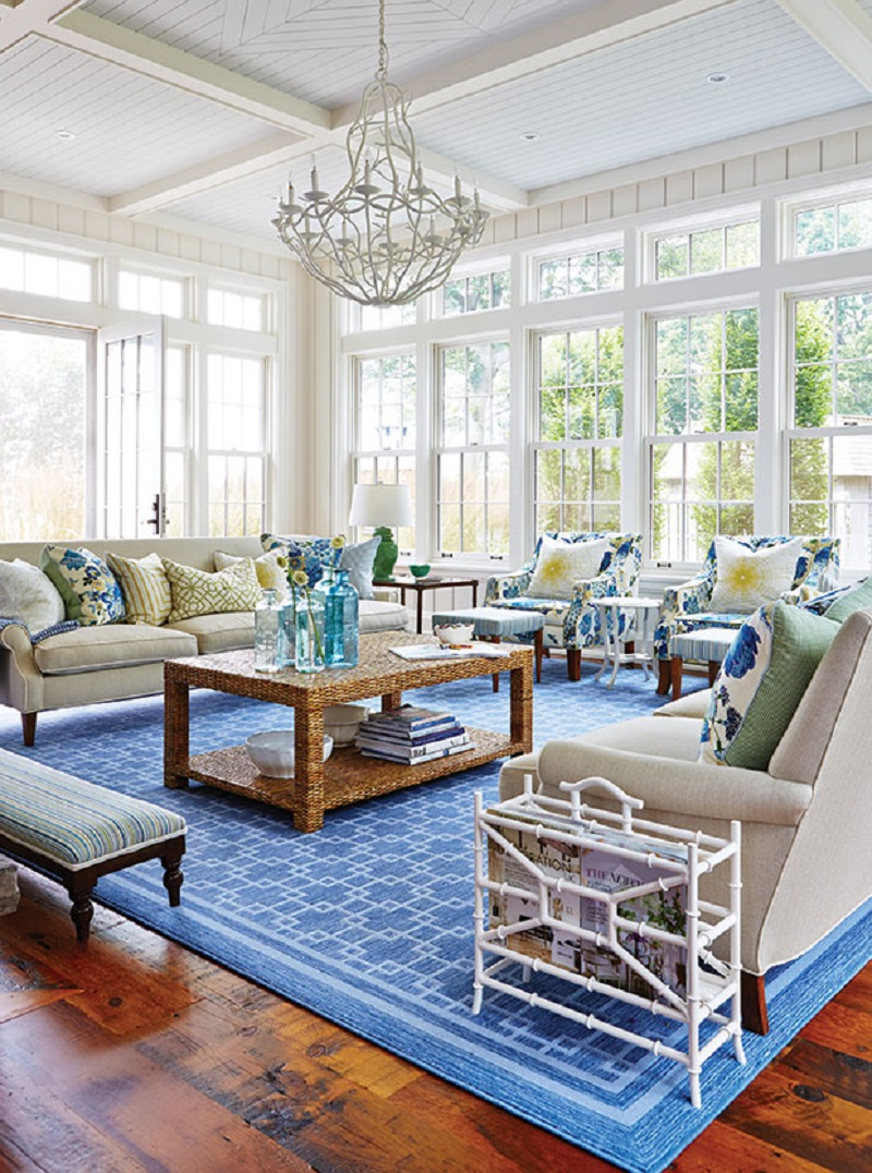 Bright blue living room Pop Of Color Room Ideas That Ready To Pop Up Colorful Mood Every Time