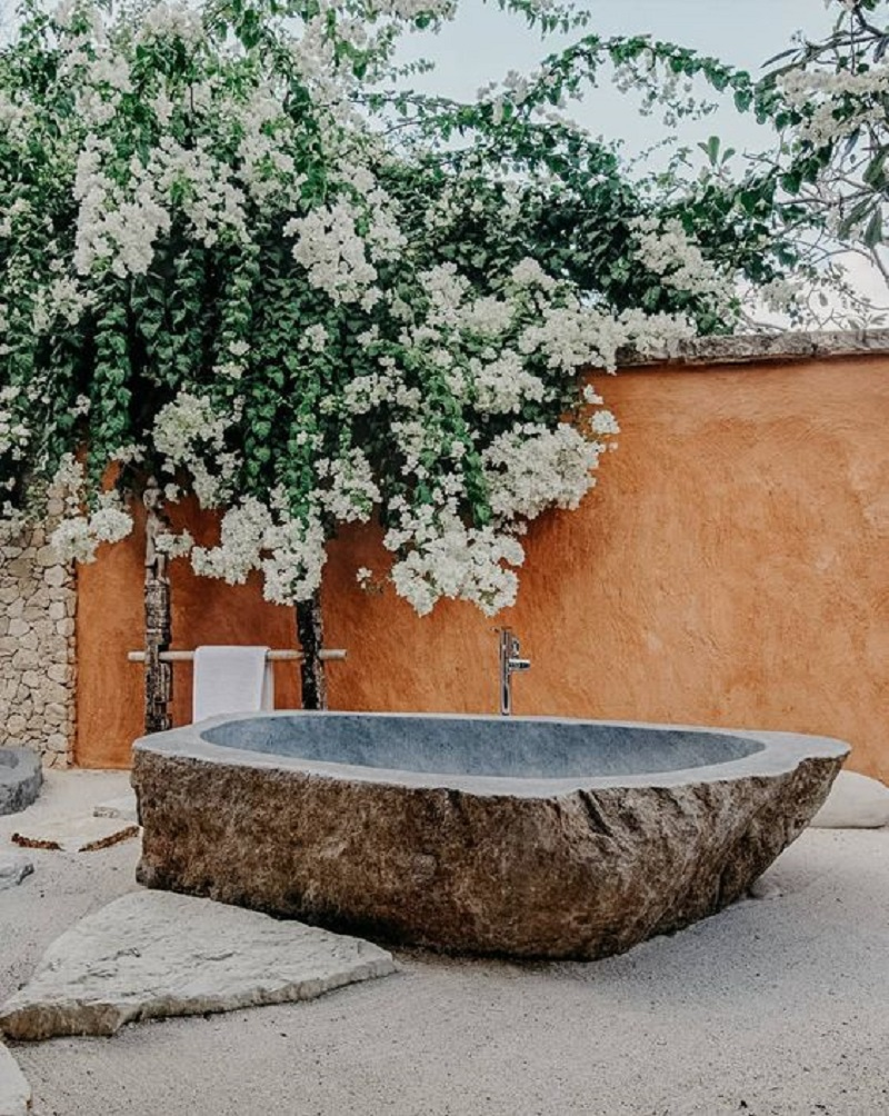Carved stone tub Never Been Better Outdoor Tubs For The Most Relaxing Soaking Session