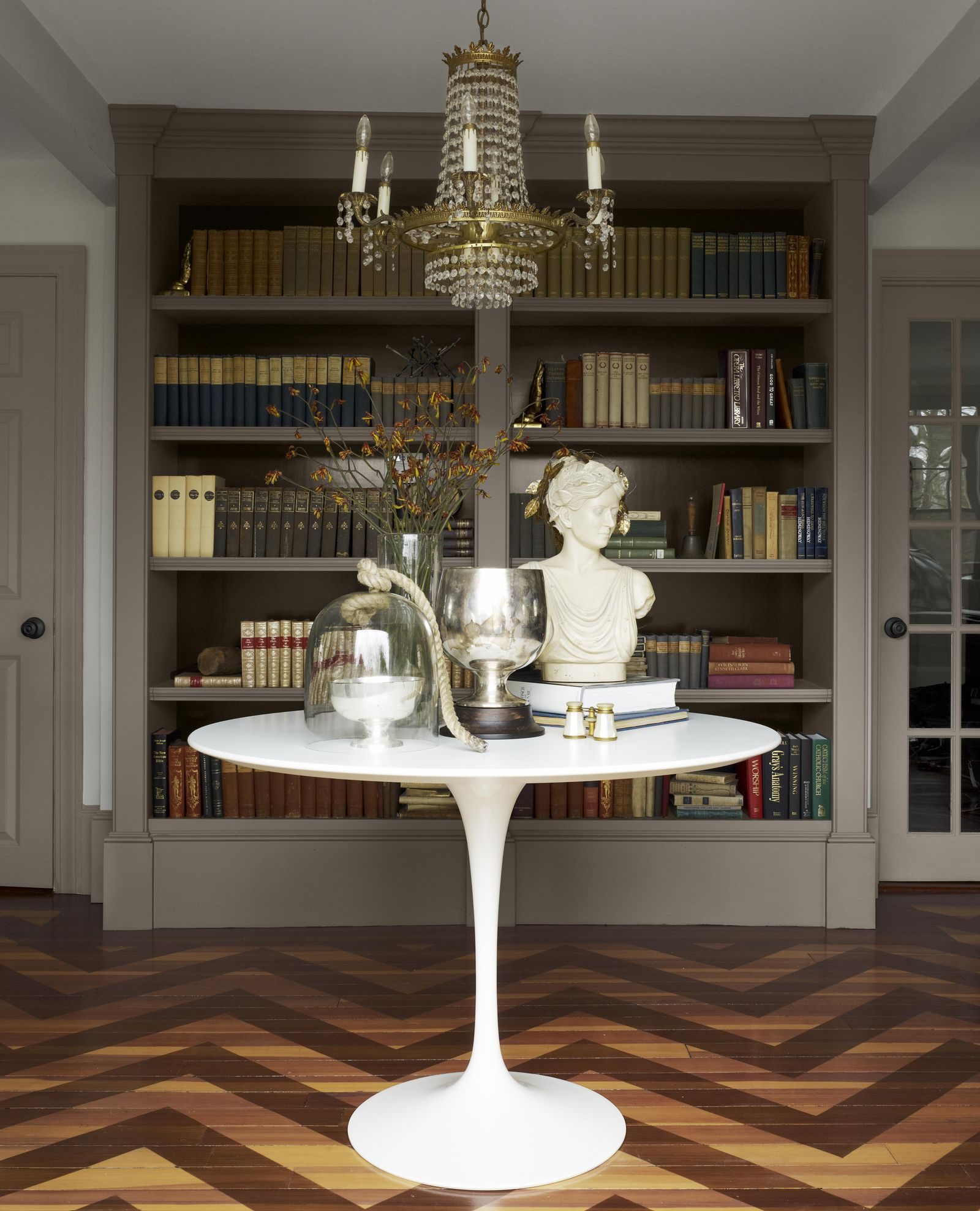 Chevron stained floors Pristine Painted Floor Ideas To Have A Masterpiece Presentation
