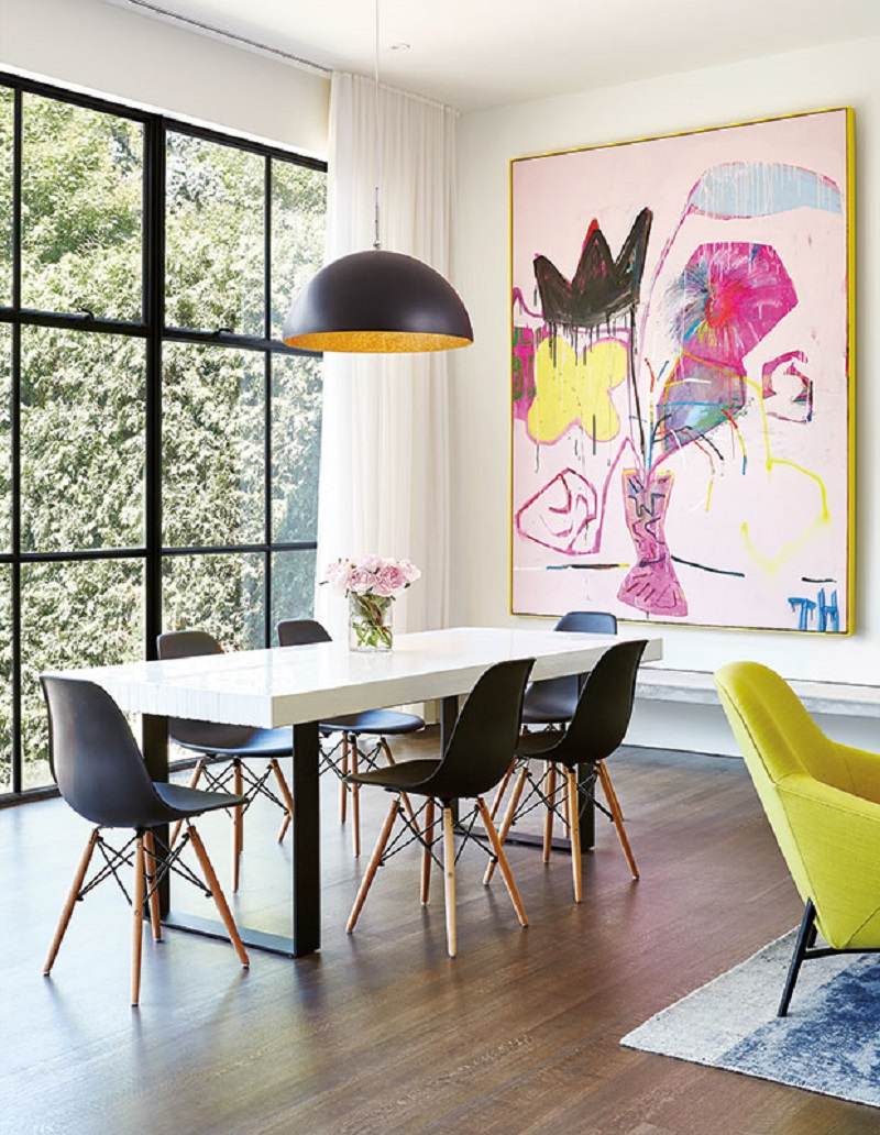 Colorful dining room Pop Of Color Room Ideas That Ready To Pop Up Colorful Mood Every Time