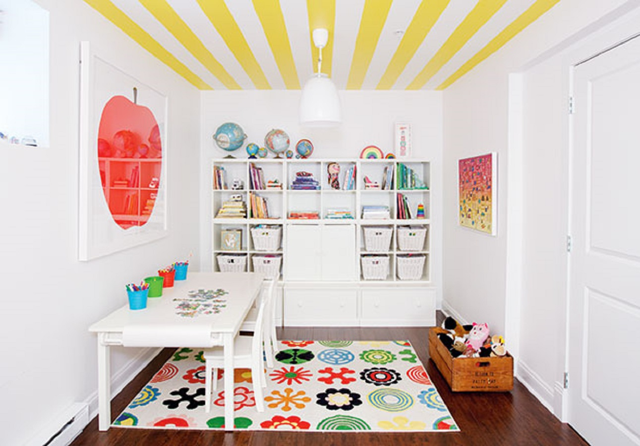 Colorful playroom Pop Of Color Room Ideas That Ready To Pop Up Colorful Mood Every Time