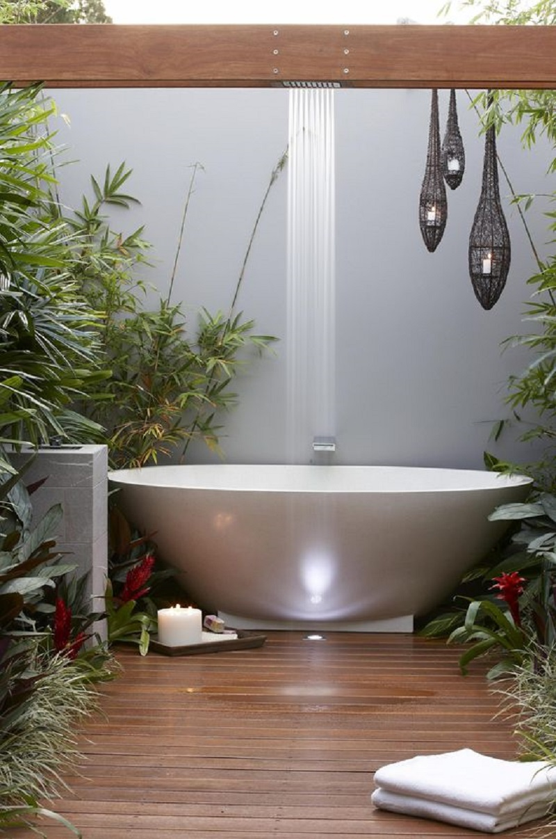 Contemporary outdoor tub Never Been Better Outdoor Tubs For The Most Relaxing Soaking Session