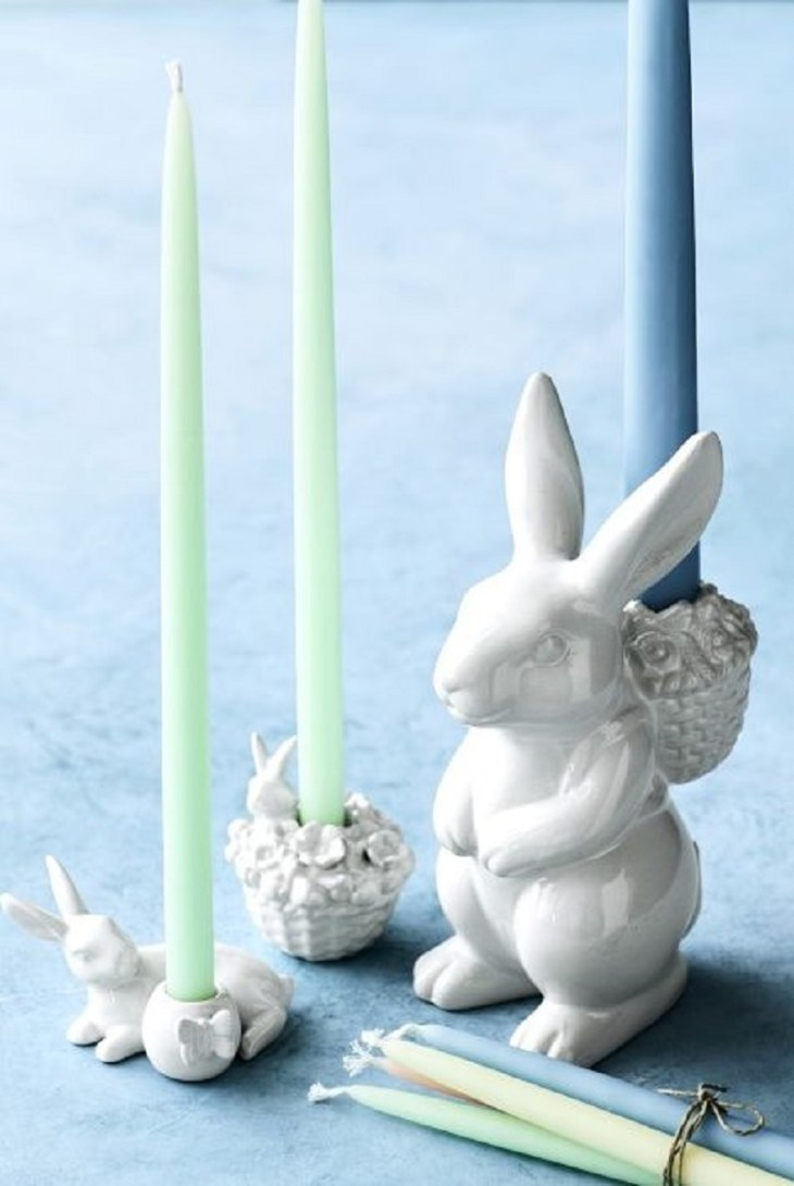 Easter bunny tiny candle holder Incomparable Easter Home Decoration Ideas That Everyone Will Love This Spring