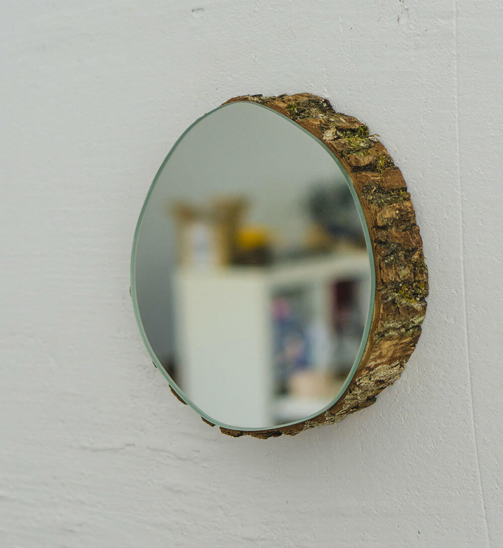 Farmhouse bathroom décor wall mirror https://homebnc.com/best-etsy-bathroom-accessories-ideas-to-buy/