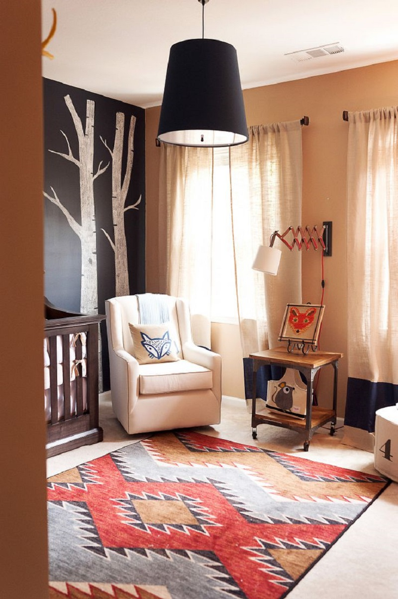 Foxy nursery Unchangeable Animal-Themed Ideas To Present The Most Adorable Nursery Space