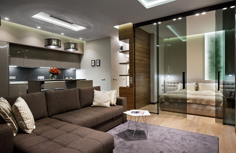 Gorgeous apartment with glass materials to make it appears visually large 6