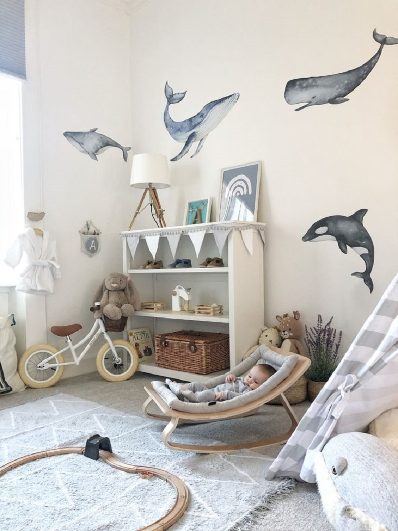 Hello whale Unchangeable Animal-Themed Ideas To Present The Most Adorable Nursery Space
