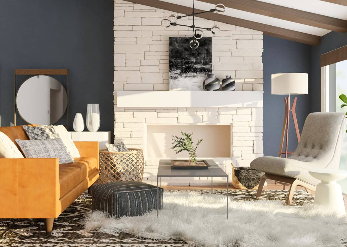 Interactive faux fur The Highlight Of Fresh Feminine To Present The Most Appealing Living Room