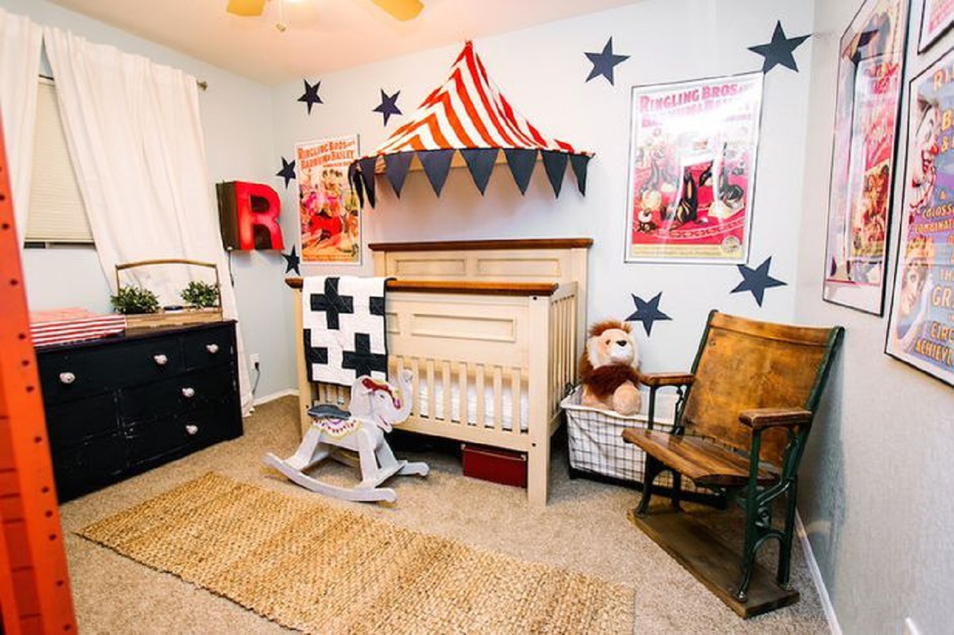 Interesting circus theme Unchangeable Animal-Themed Ideas To Present The Most Adorable Nursery Space