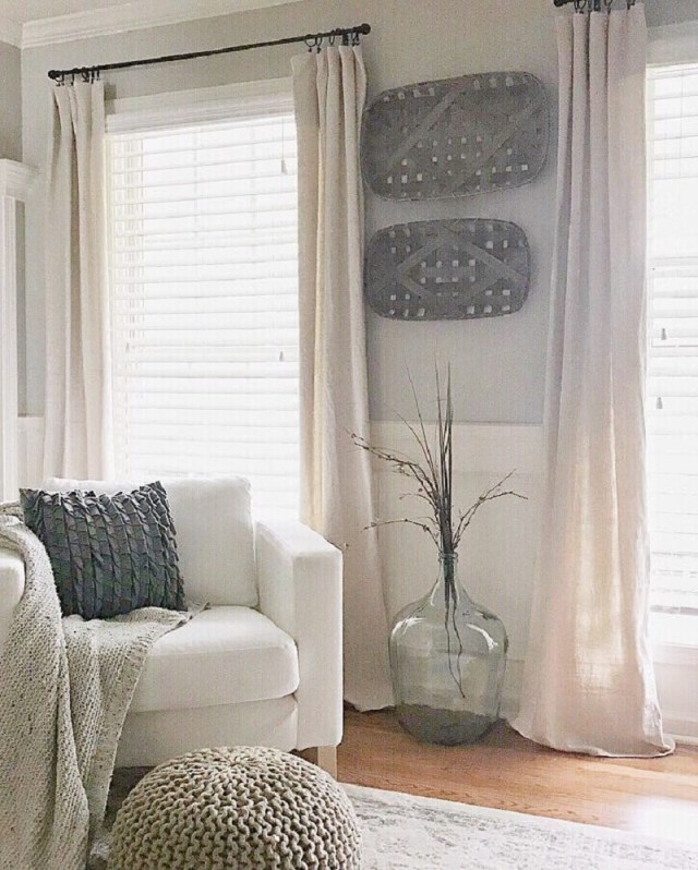 Long drop cloth curtains Undoubtedly Inspiring Bedroom Curtain Ideas To Instantly Elevate Your Space