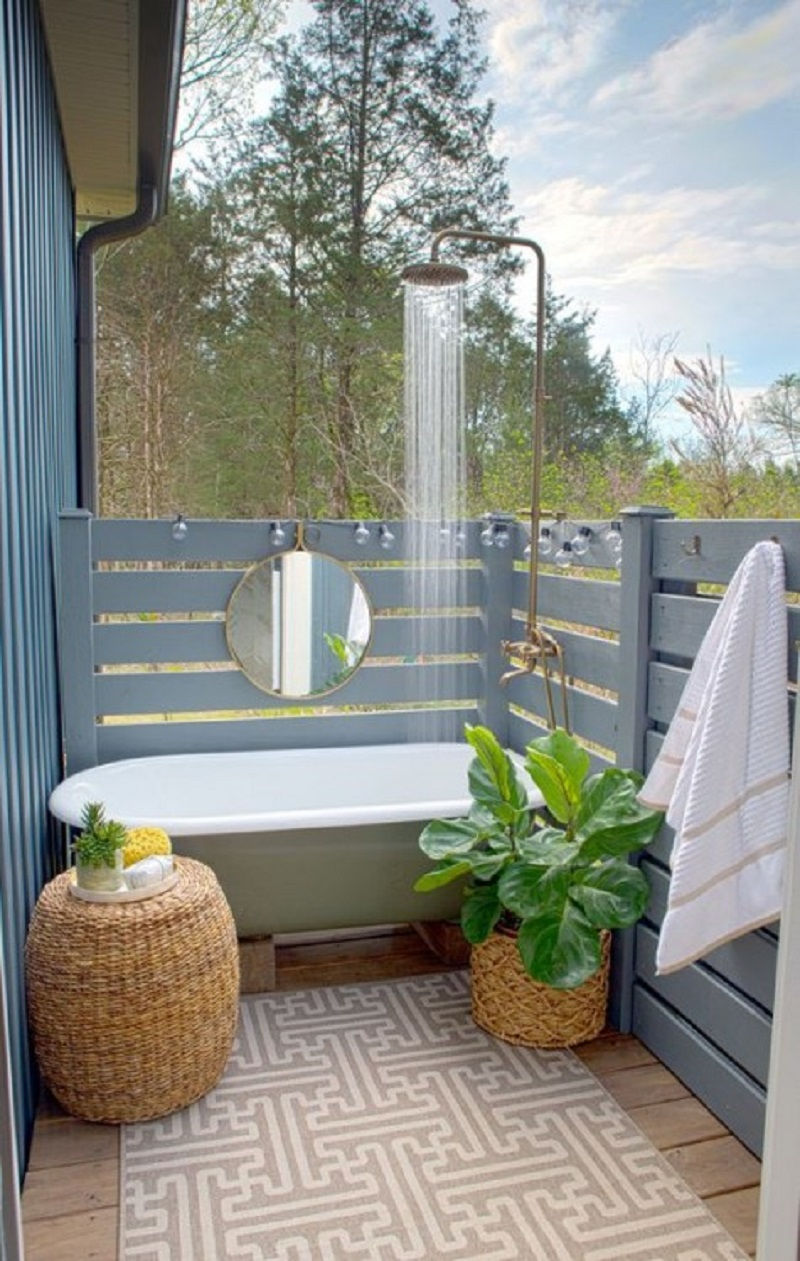 Outdoor tub and shower Never Been Better Outdoor Tubs For The Most Relaxing Soaking Session