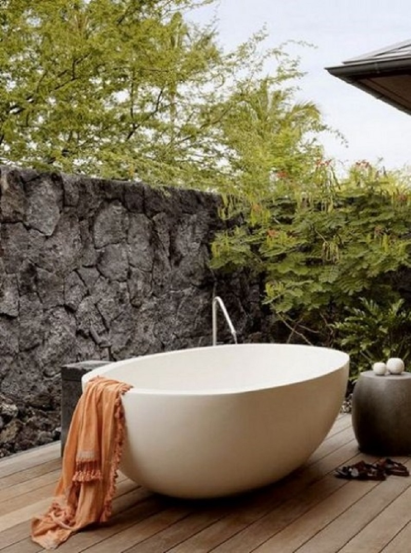 Peaceful outdoor tub Never Been Better Outdoor Tubs For The Most Relaxing Soaking Session
