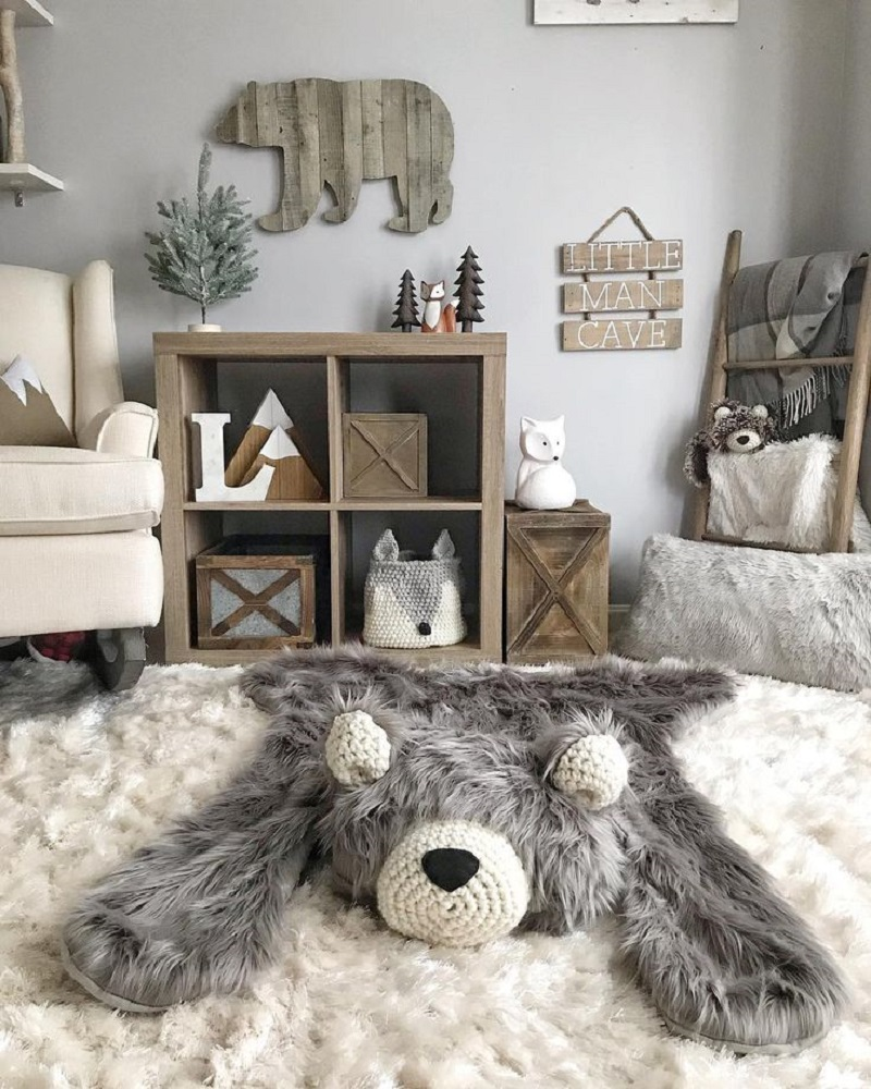 The cutest bear Unchangeable Animal-Themed Ideas To Present The Most Adorable Nursery Space