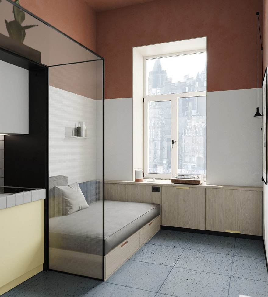 This super tight studio apartment looks fabulous for single living 3