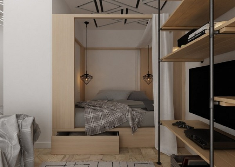 Apartment at 28.7 square meters that warm and comfortable with its minimalistic style 4