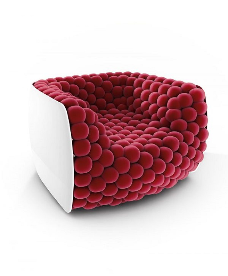 Blueberry chair The Most Artistic Sculptural Chairs To Add An Exhibition Touch In Your Home