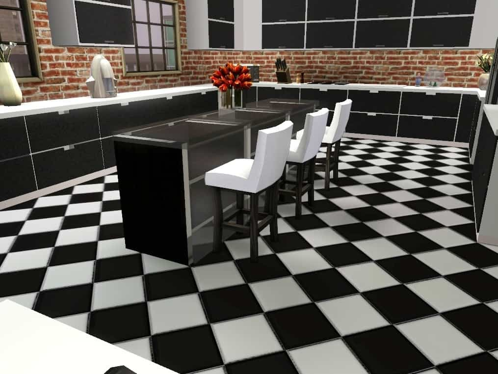 Chess floor in modern dining room Chess Floor Ideas To Present A Game Vibe In Any Room Of Your House