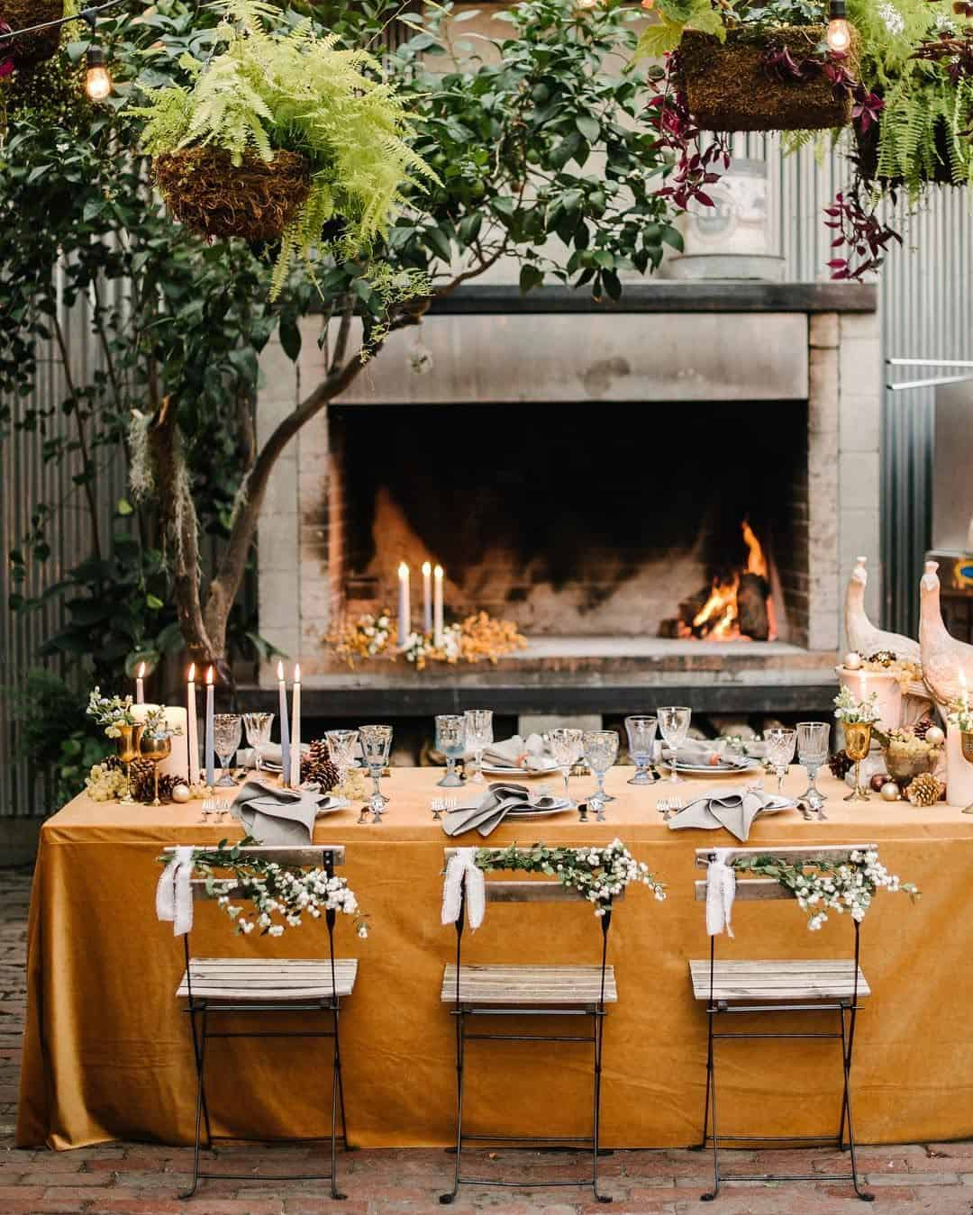 Cozy fireplace Embracing Summer Garden Party Ideas To Invite People Happiness In A Warmer Weather
