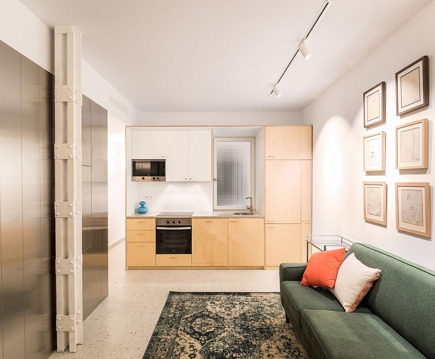 From dark basement unit into space-savvy apartment in ultra-tiny area 4