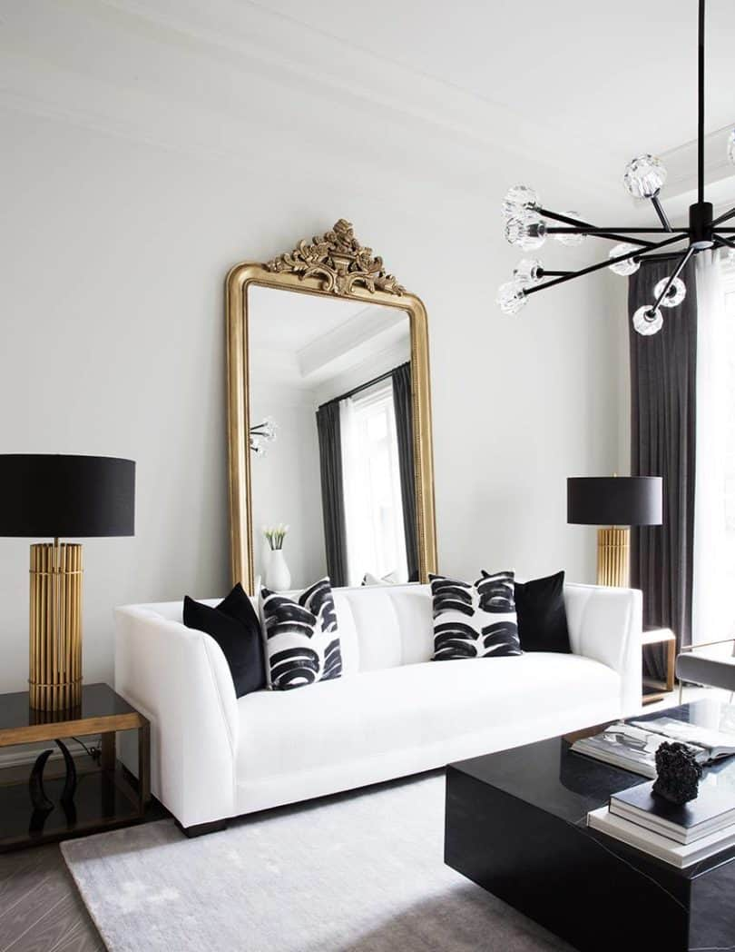 Gold mirror Sophisticated Ways To Decorate Your Home With Gold Finish Outdated Décor