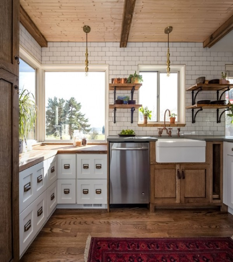 Rustic kitchen rug Extra Comfort Kitchen Ideas With Rug To Keep Your Kitchen Cozy