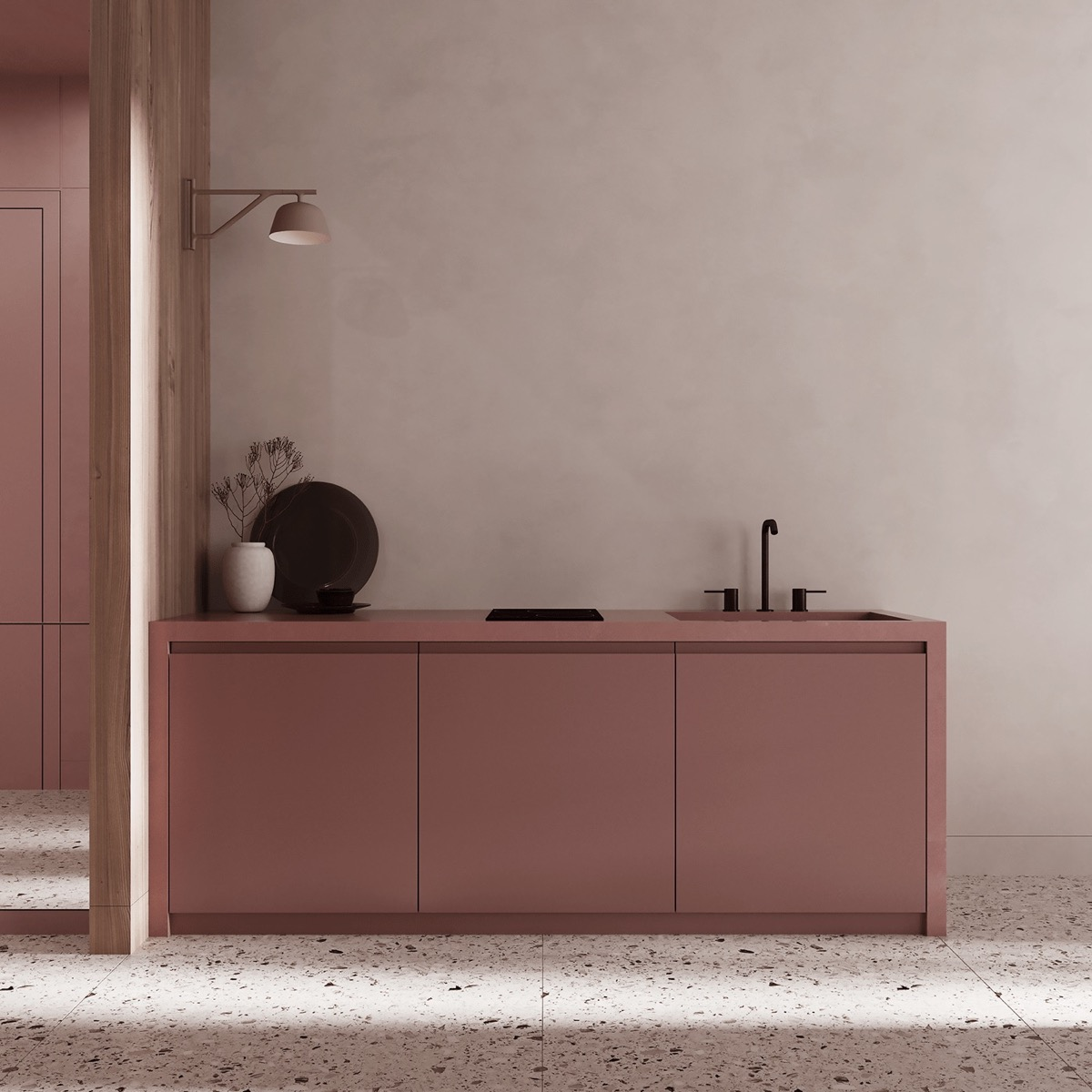 Small pink kitchen Pink Home Ideas To Give A Penchant Stylish Touch