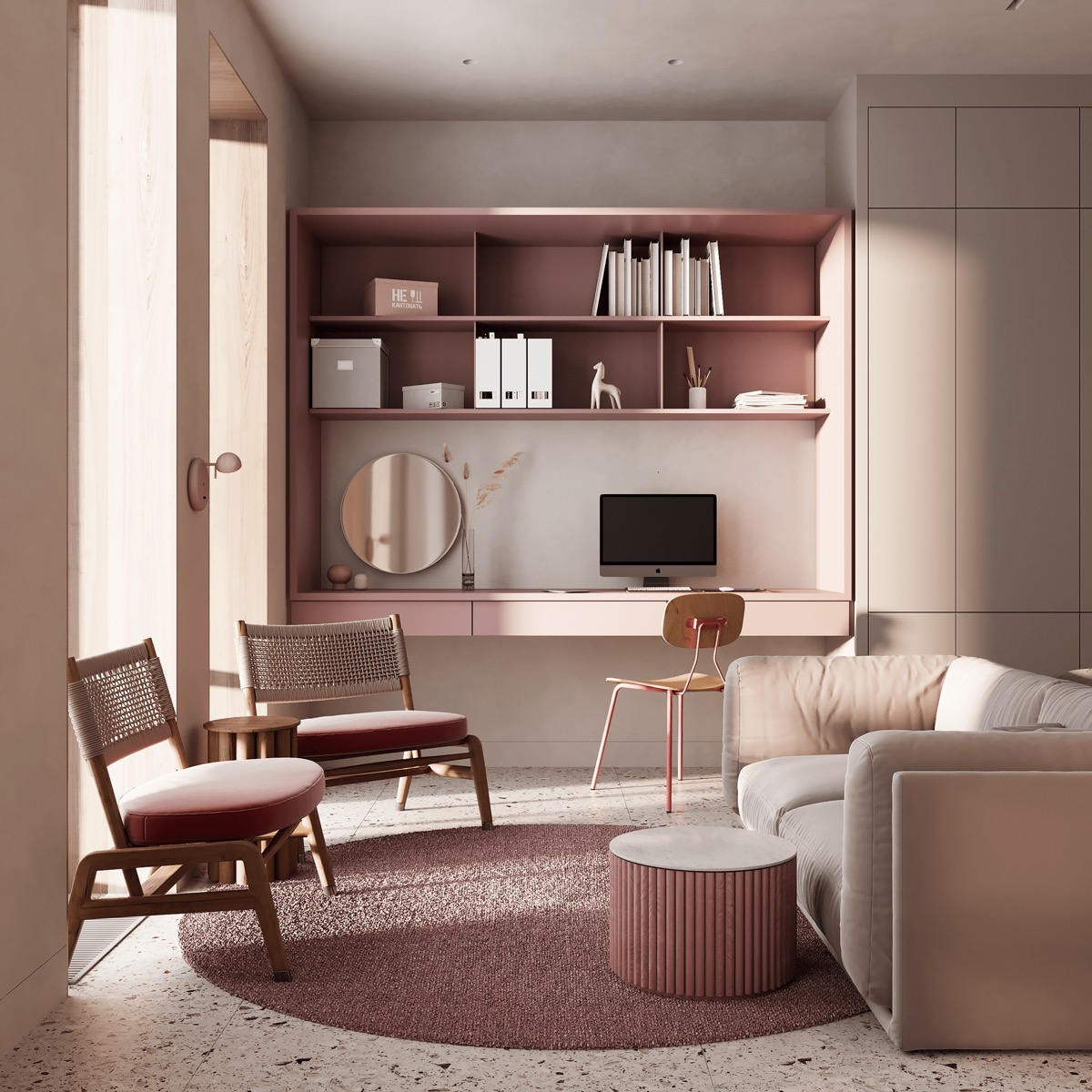 Small pink living room Pink Home Ideas To Give A Penchant Stylish Touch