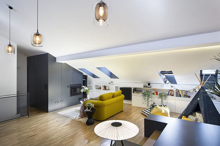 Unbelievable attic design that can function as an independent apartment 1