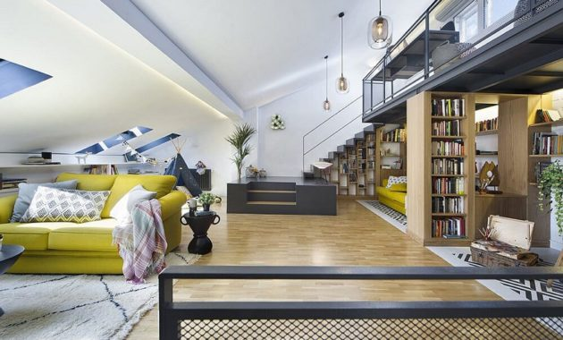 Unbelievable attic design that can function as an independent apartment 3